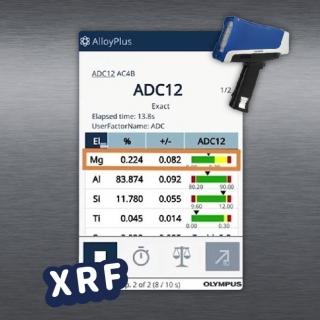 <b>X-ray螢光-XRF</b> XRF快篩分析ADC鋁合金牌號