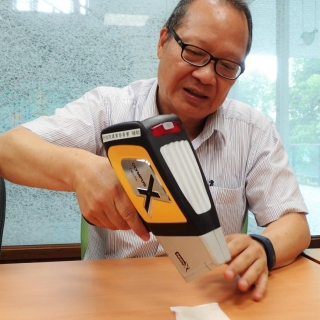 感謝 <b>張尊國教授</b> 線上指導便攜式XRF測定廢水中的重金屬污染